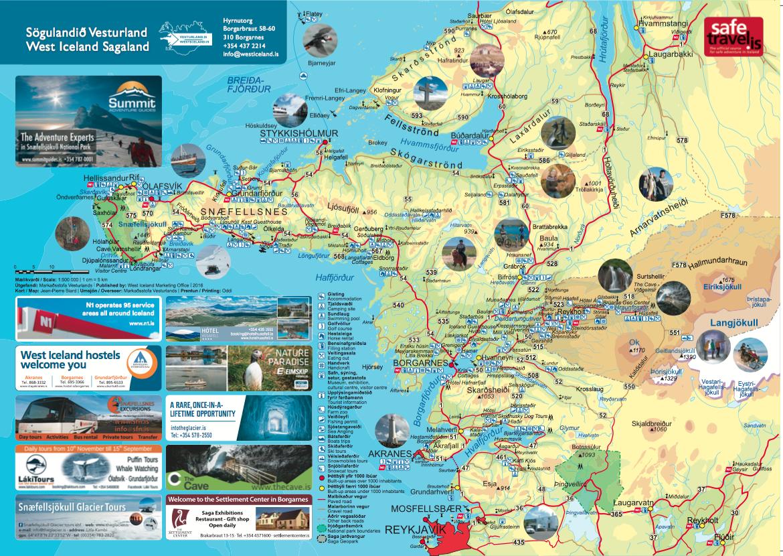 Vesturland Kort 2017 Visit West Iceland