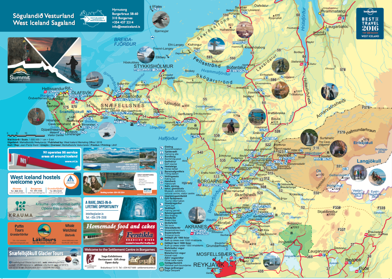 TRAVEL GUIDE and BROCHURE – Iceland Tourist Attractions Map